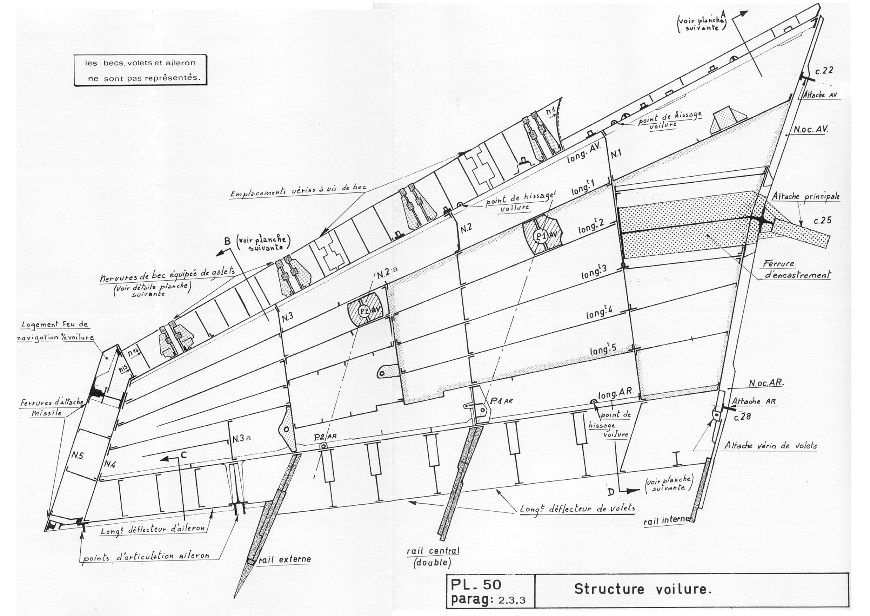 Mirage F1 blueprint