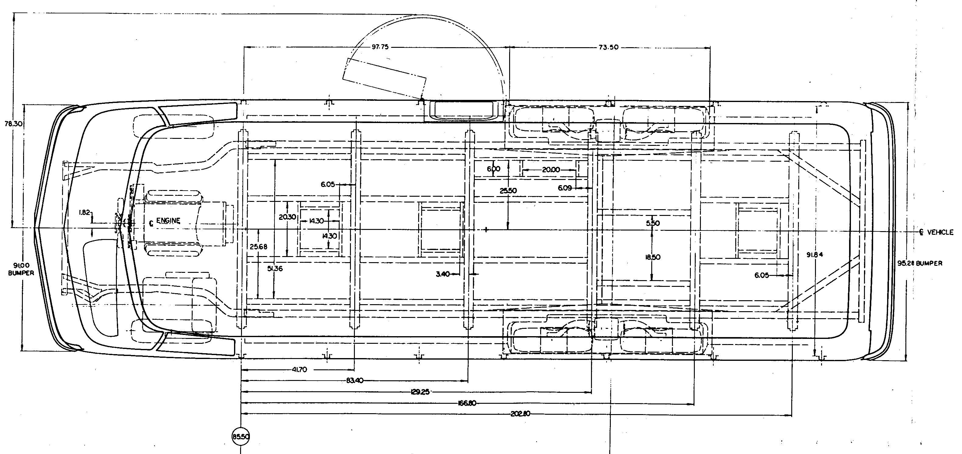 GMC Motorhome blueprint