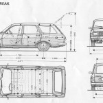 Renault 12 blueprint