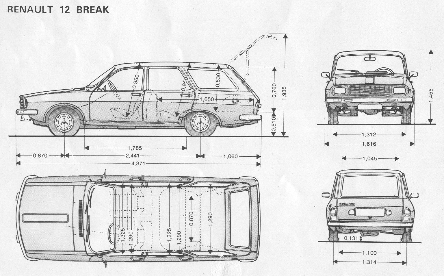 Renault 12 blueprint download free blueprint for 3d modeling for Free 3d blueprints