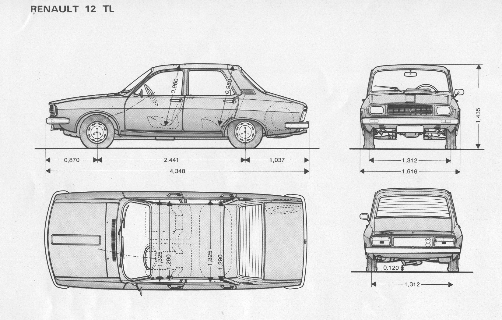 Renault 12 Blueprint Download Free Blueprint For 3d Modeling