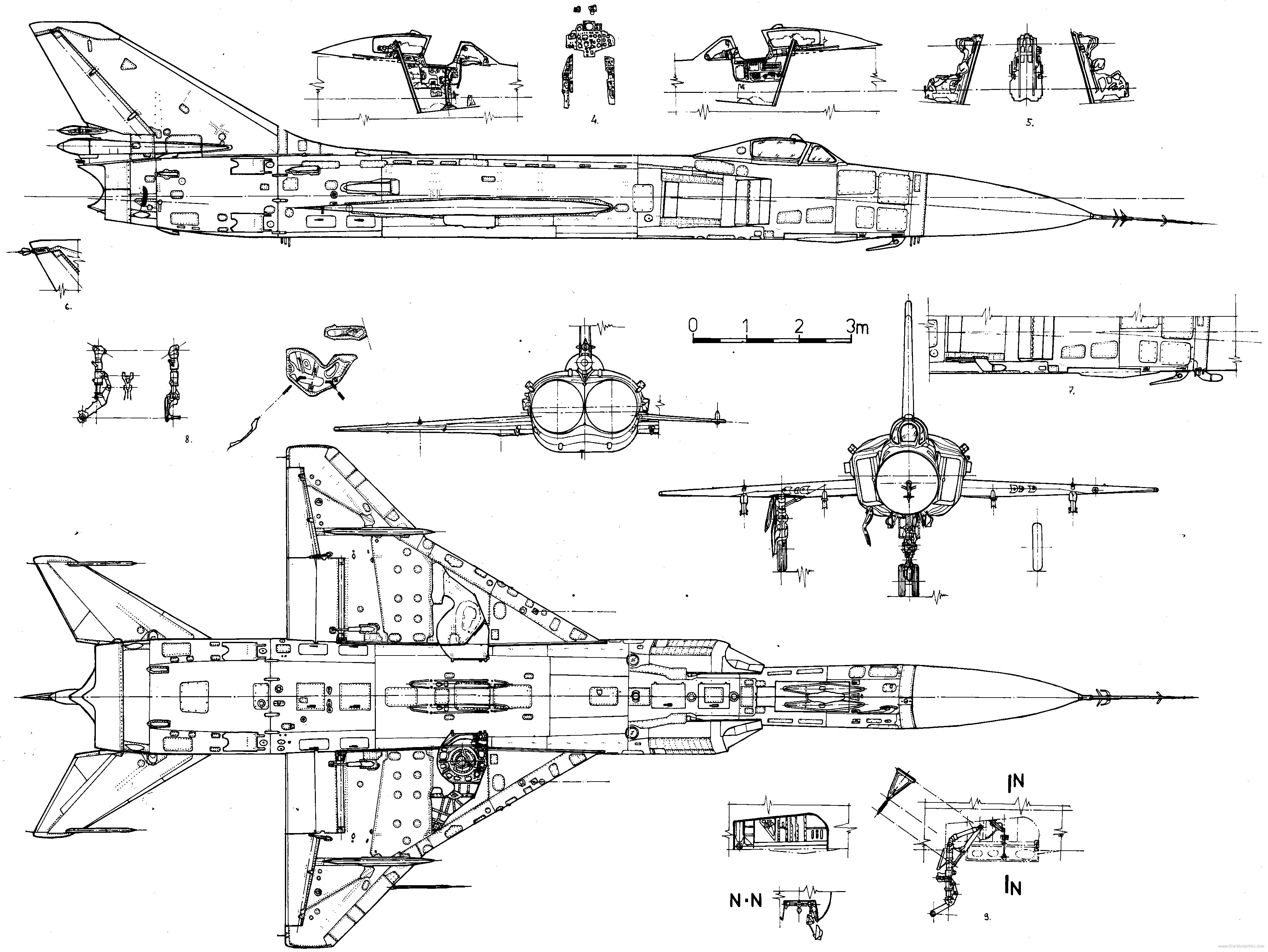 Su-15 blueprint