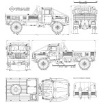 Ural-4320 blueprint