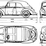 Volkswagen Beetle blueprint
