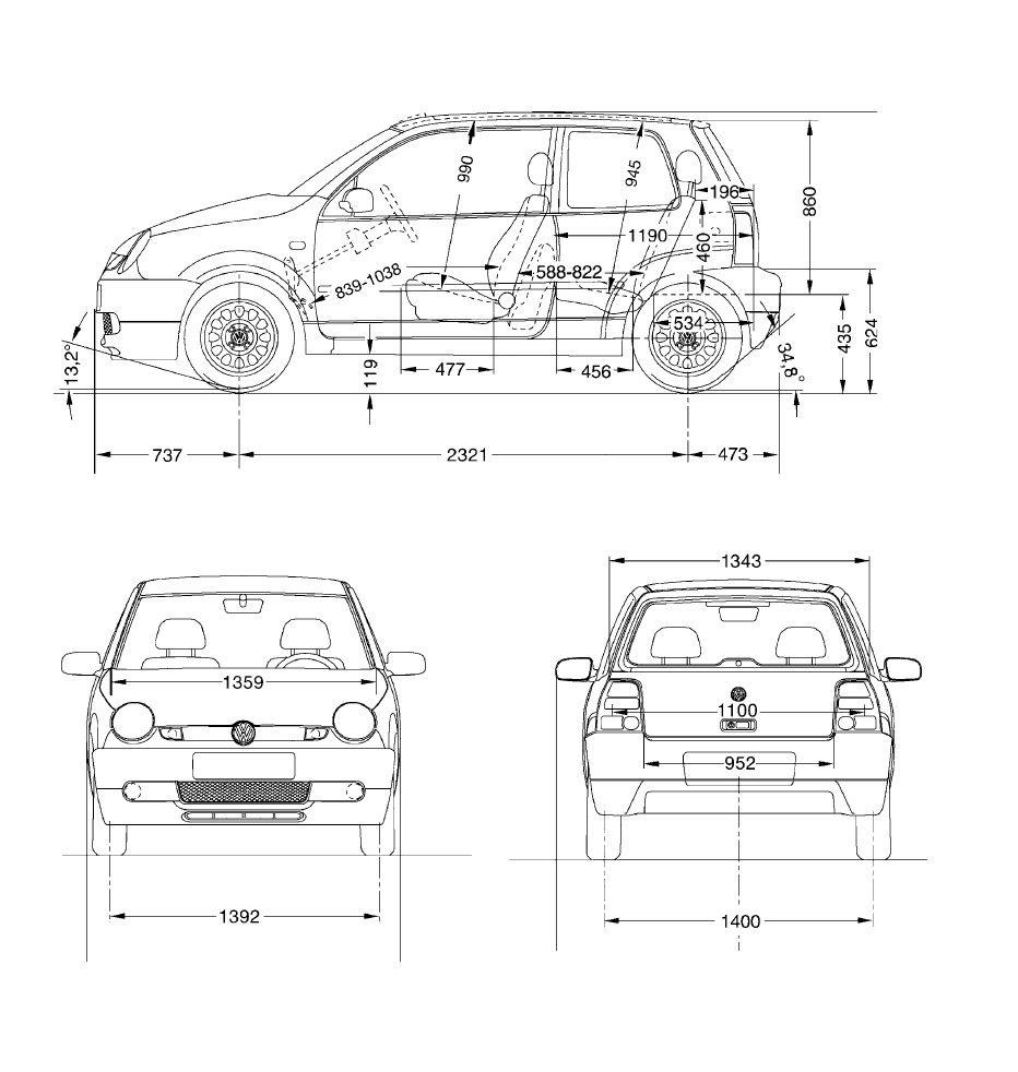 Volkswagen Lupo blueprint