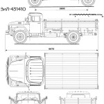 ZIL-130 blueprint