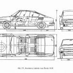Skoda 110 R blueprint