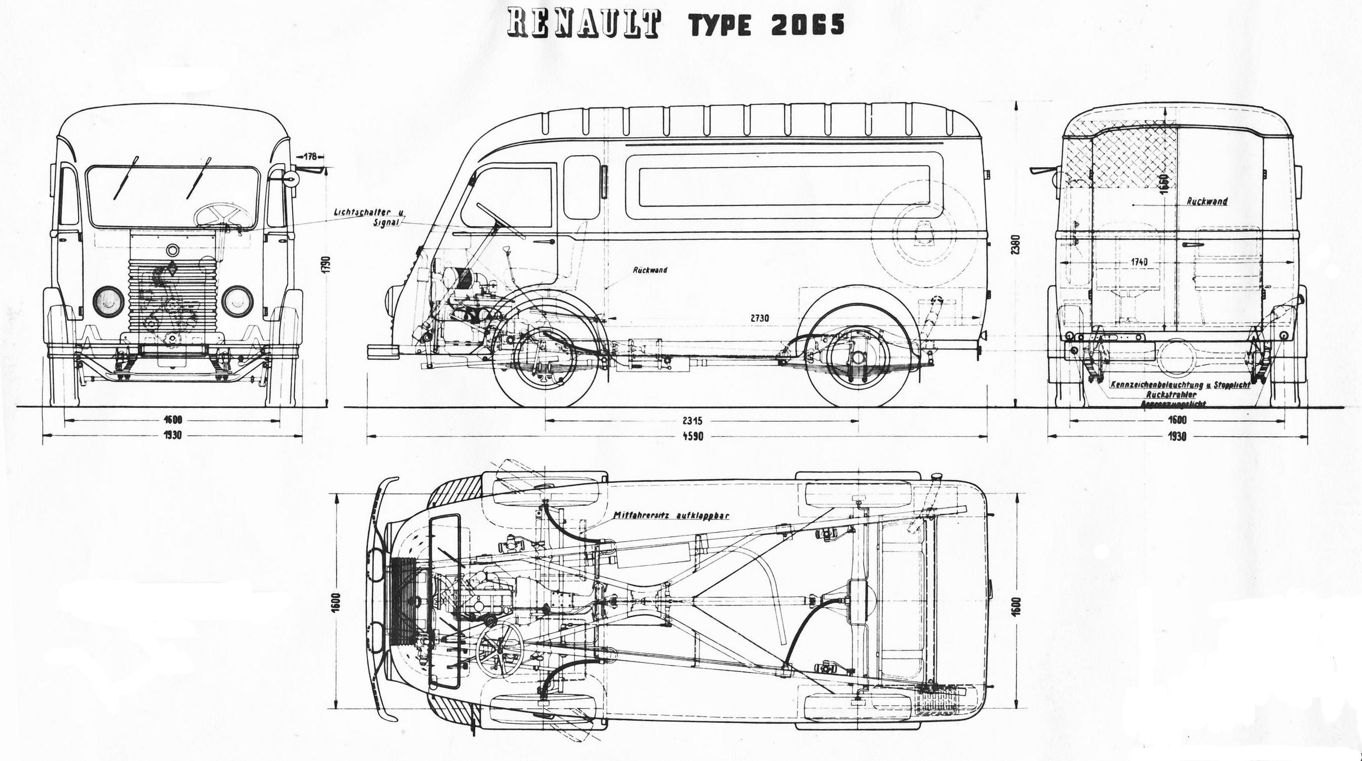 Renault 1 000 kg blueprint