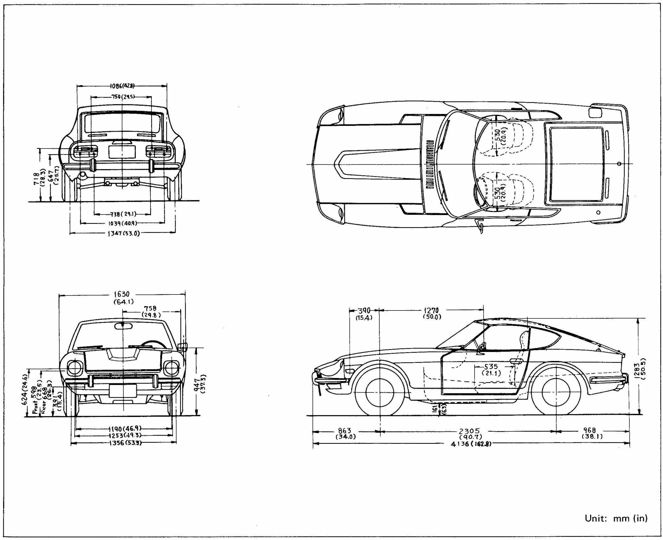 Datsun 280Z blueprint