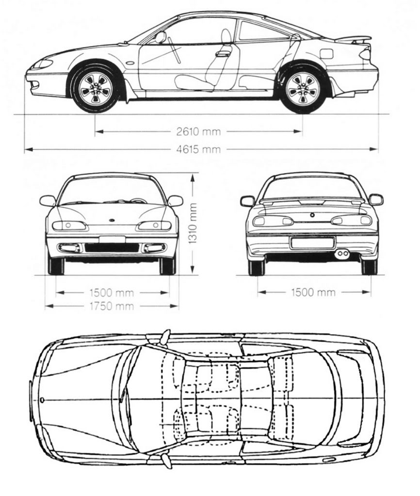 Mazda MX-6 blueprint