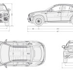 BMW X6 blueprint