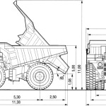 BelAZ 7514 blueprint