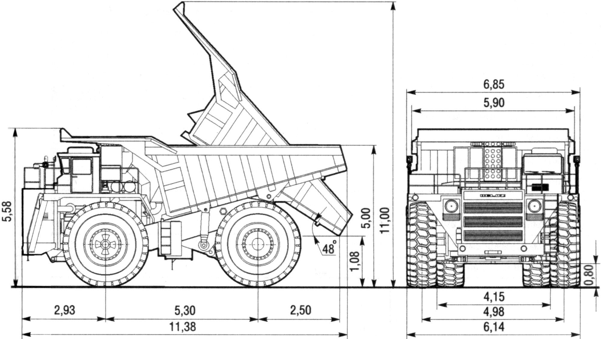 BelAZ 7514 blueprint