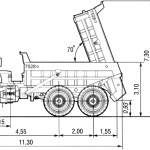 BelAZ 7528 blueprint