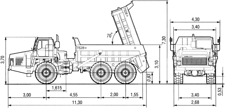 BelAZ 7528 blueprint