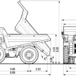 BelAZ 7555 blueprint