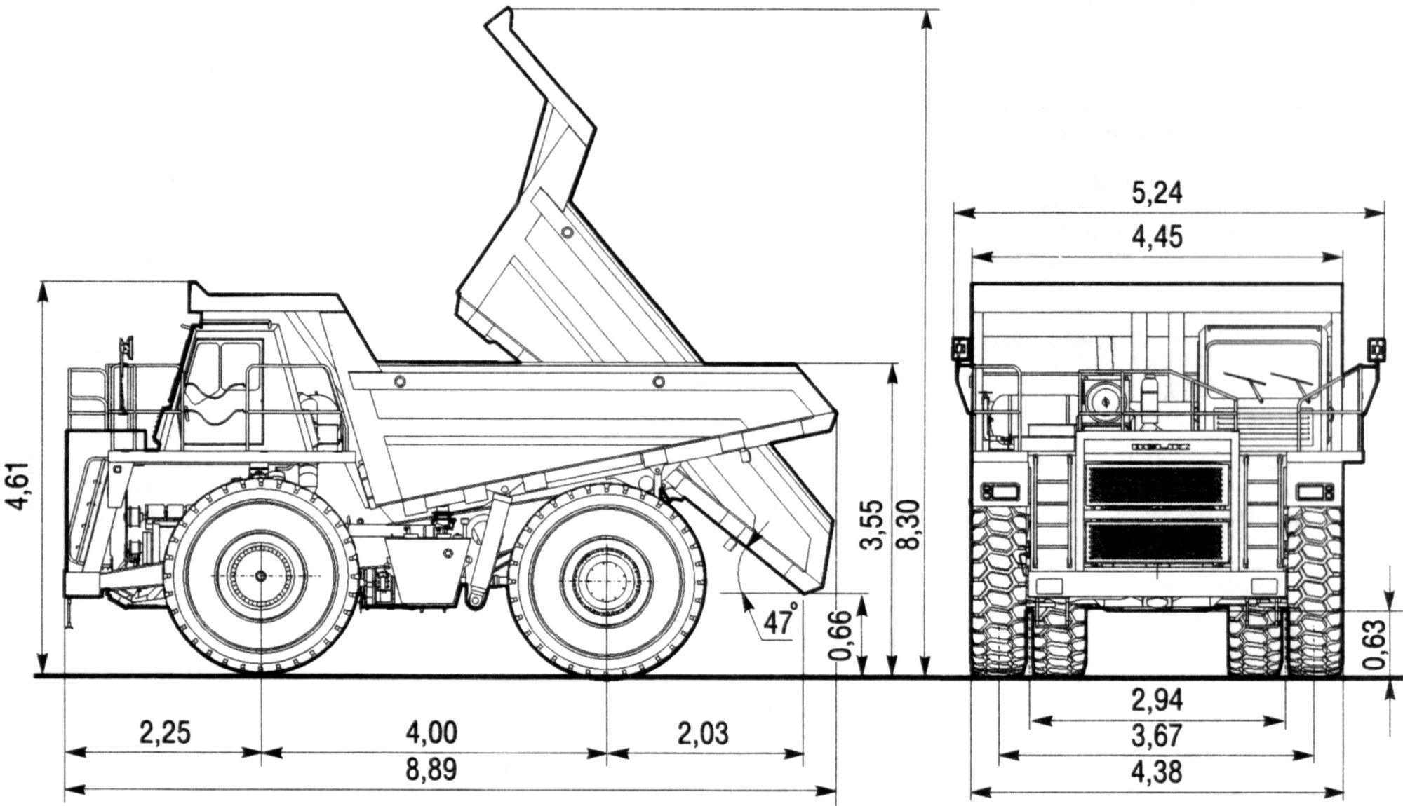 BelAZ 7555 blueprint