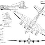 B-17 Flying Fortress blueprint