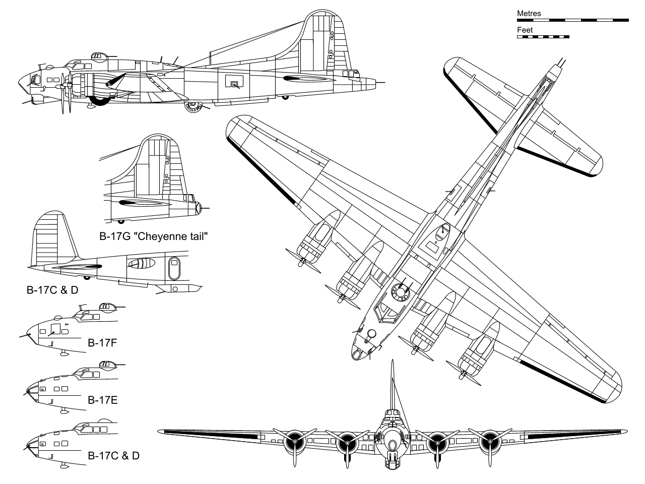 B-17 Flying Fortress blueprint