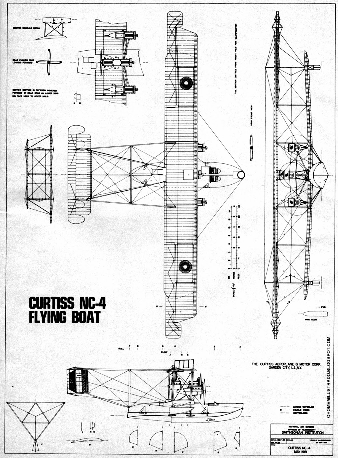 Curtiss NC-4 blueprint