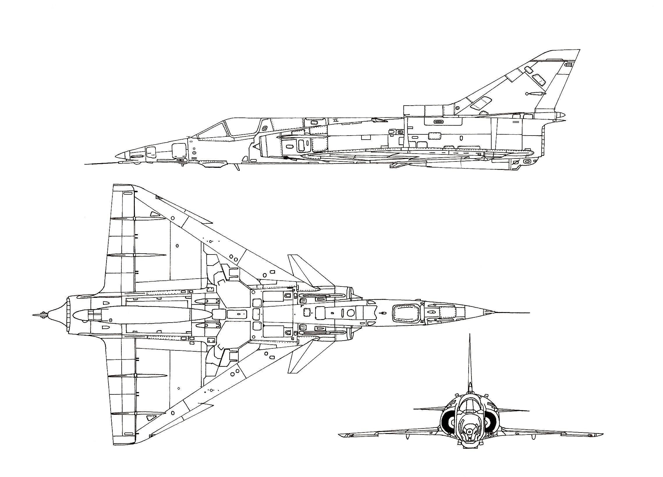 IAI Kfir blueprint
