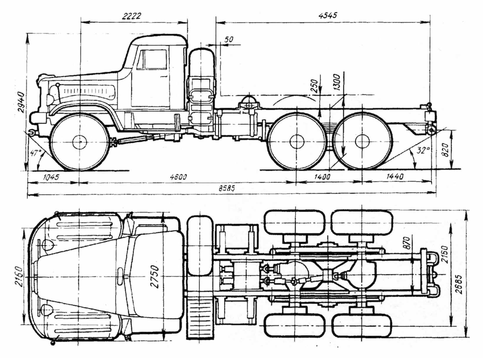 KrAZ-255 blueprint