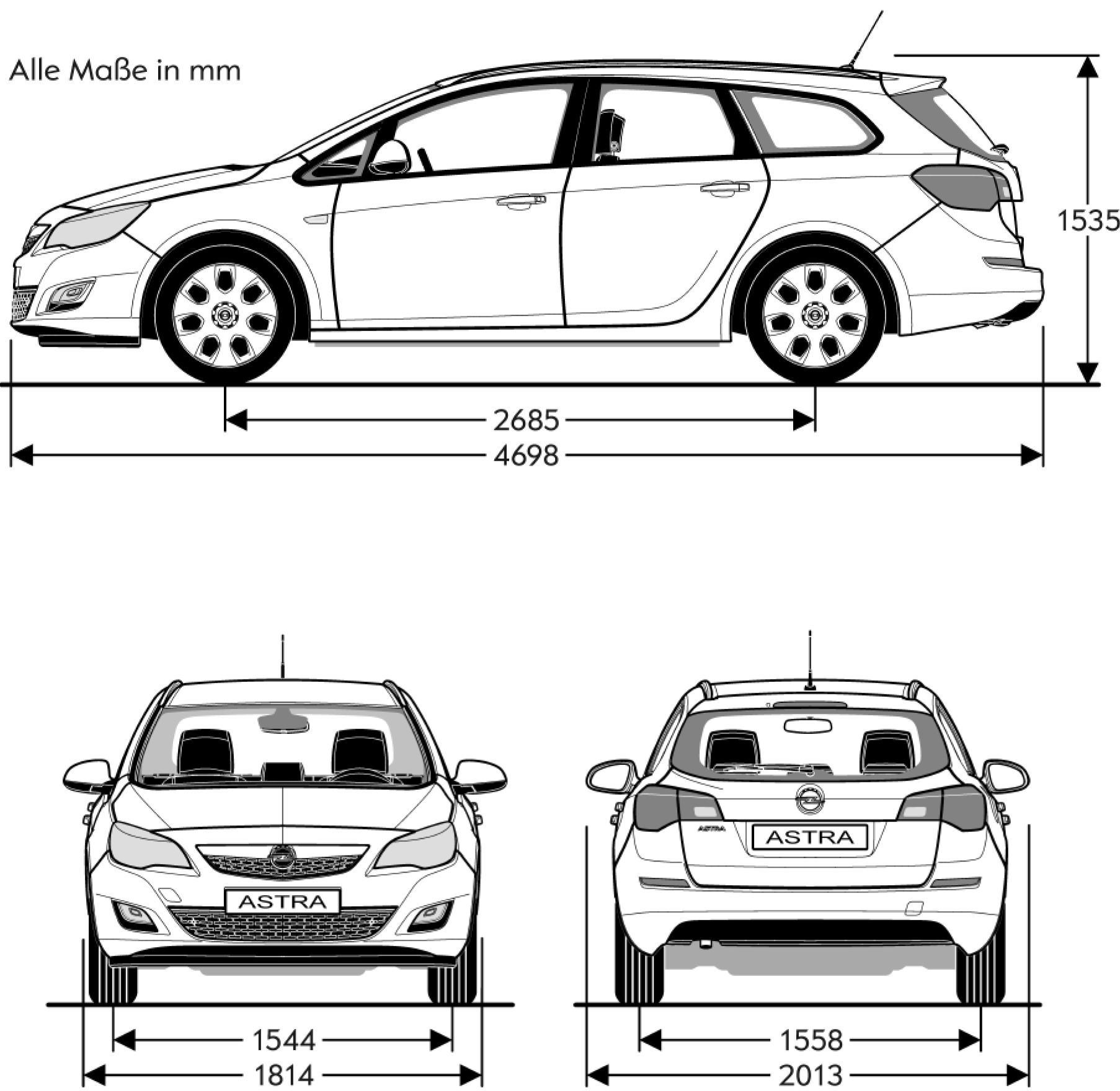 Opel Astra blueprint