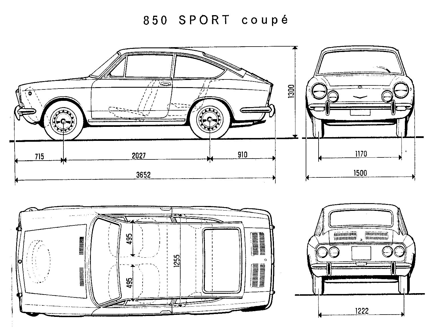 Seat 850 blueprint