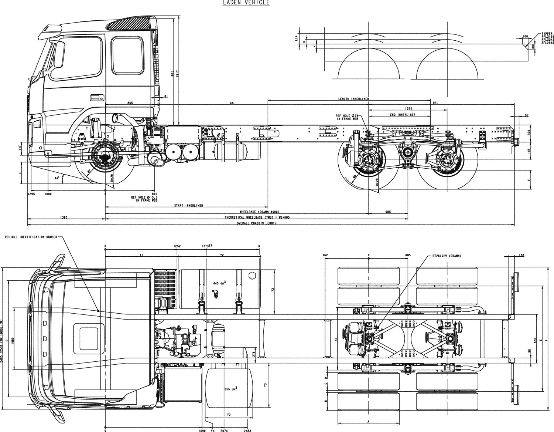 Volvo FM blueprint