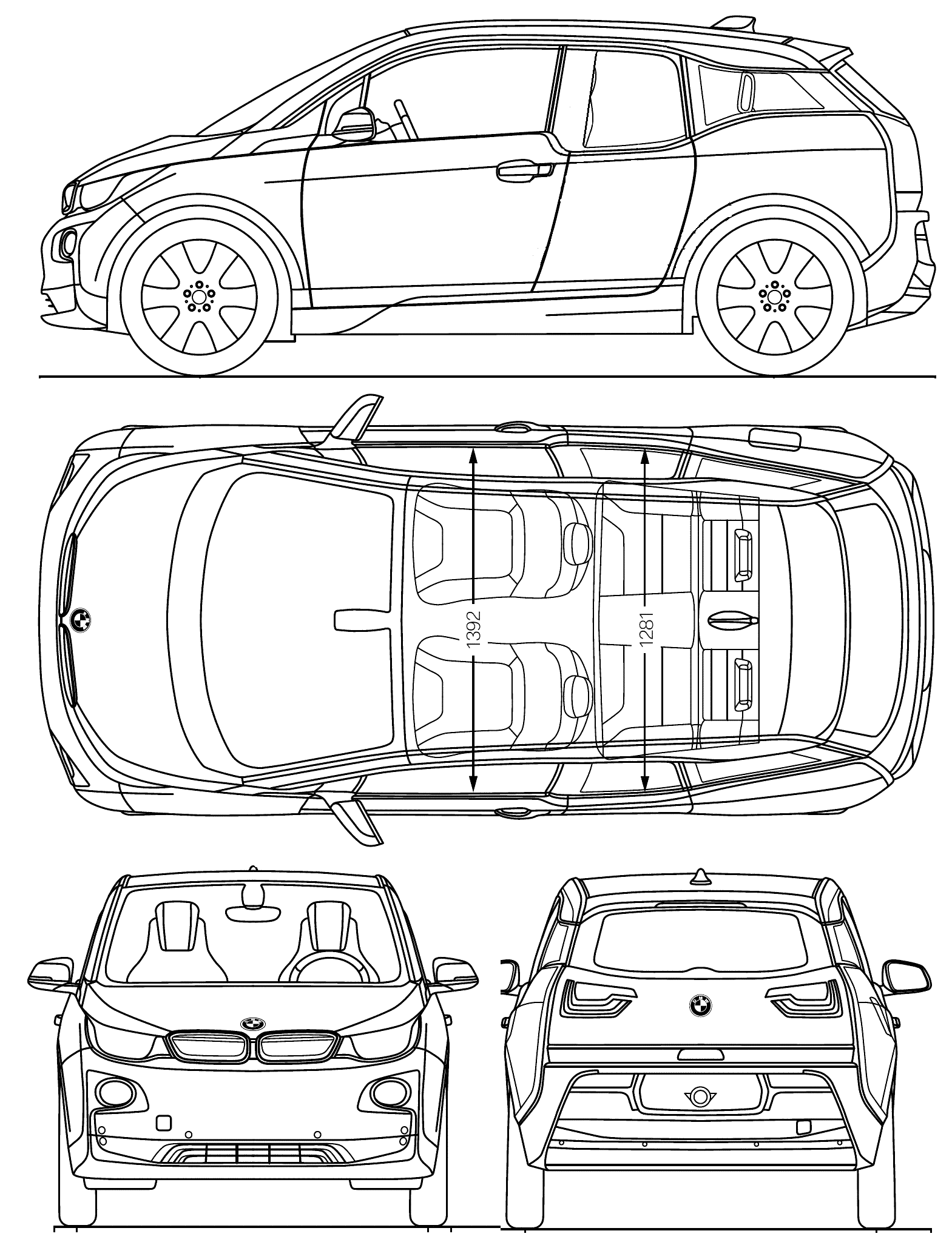 Bmw I3 Blueprint Download Free Blueprint For 3d Modeling