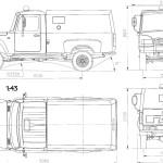 GAZ 2308 blueprint