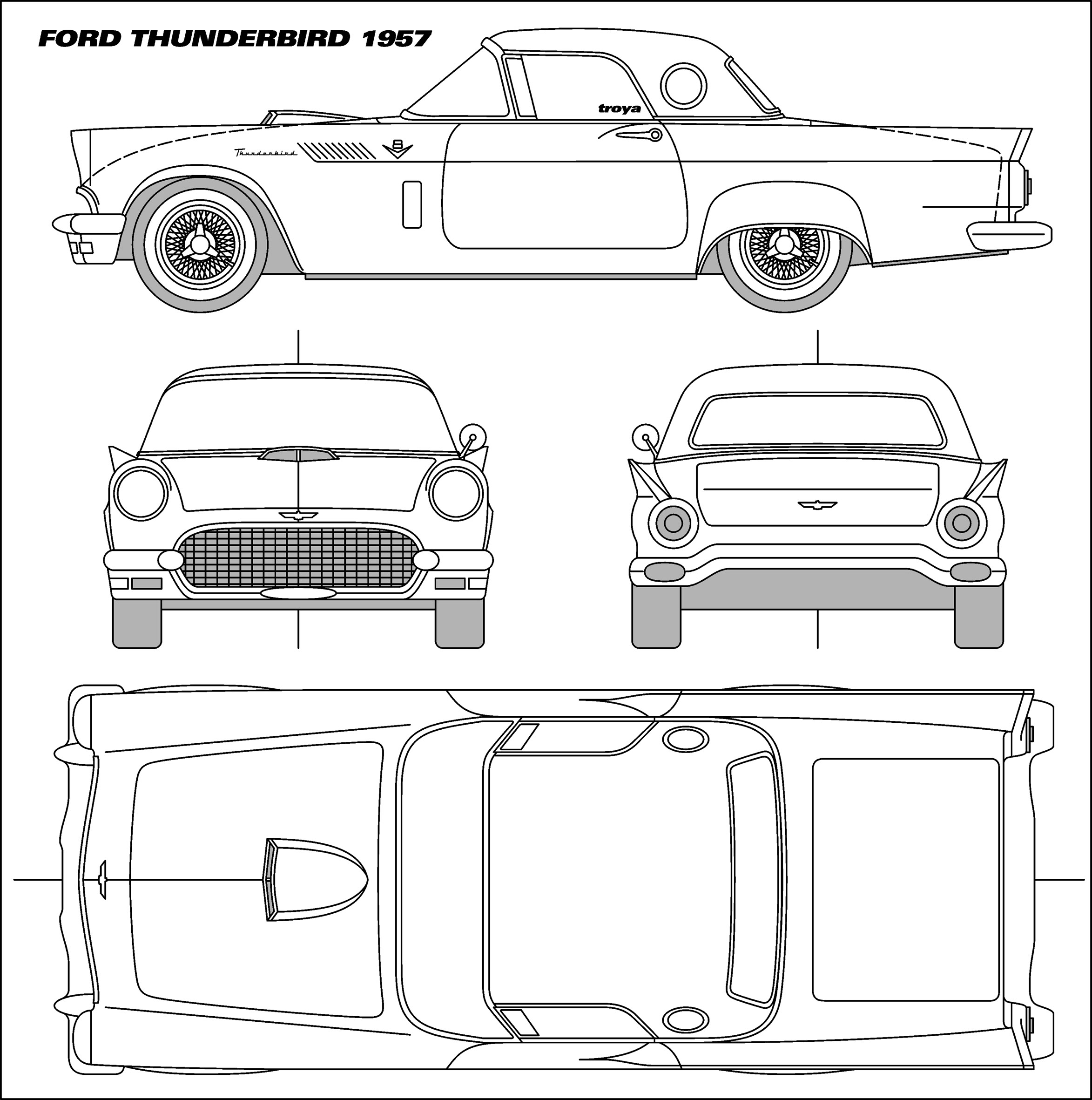 Ford Thunderbird Blueprint