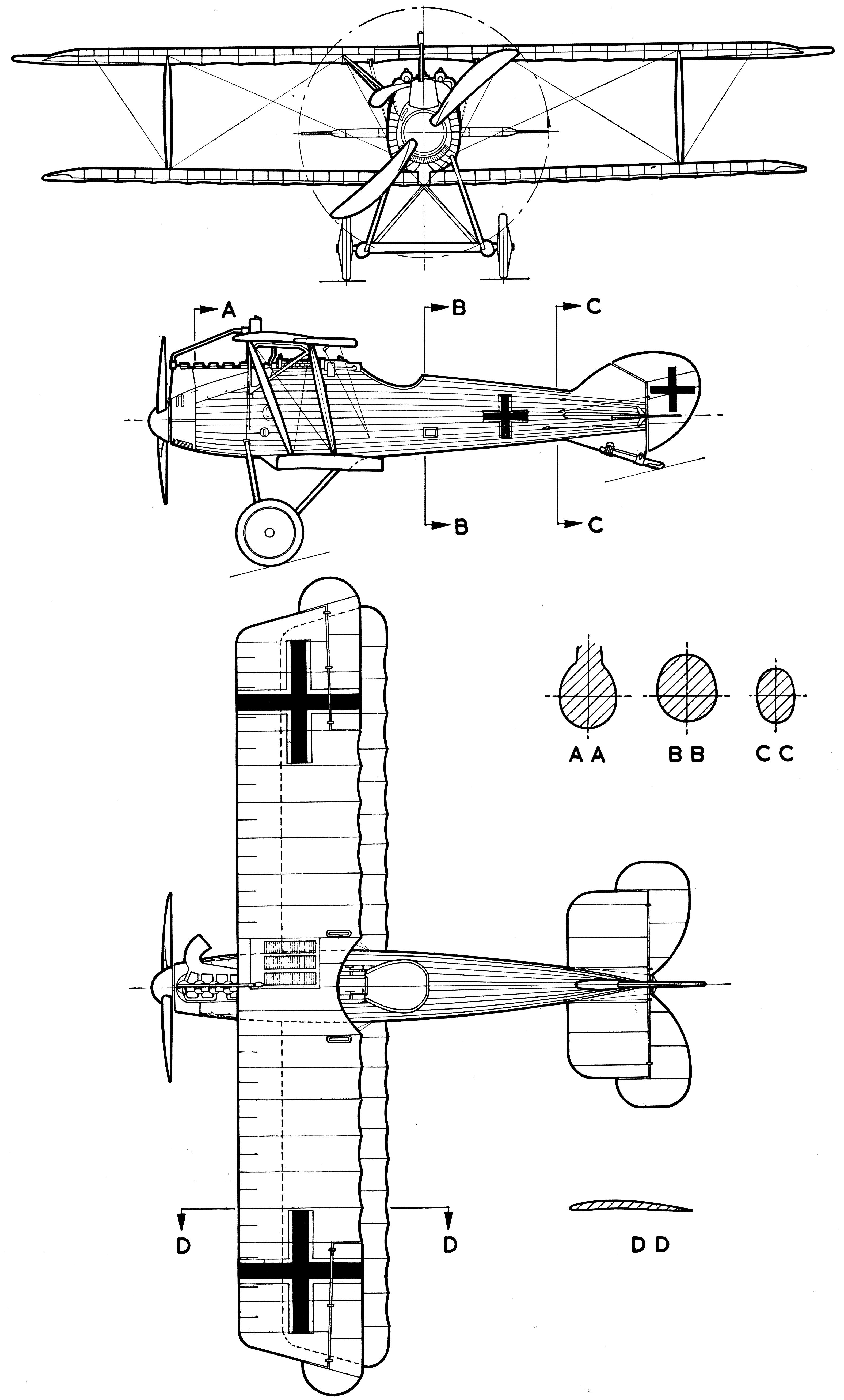 LFG Roland D.VIb blueprint