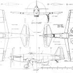 Martin-Baker MB 5 blueprint