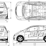 Mercedes-Benz A-Class blueprint