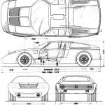 Mercedes-Benz C111 blueprint