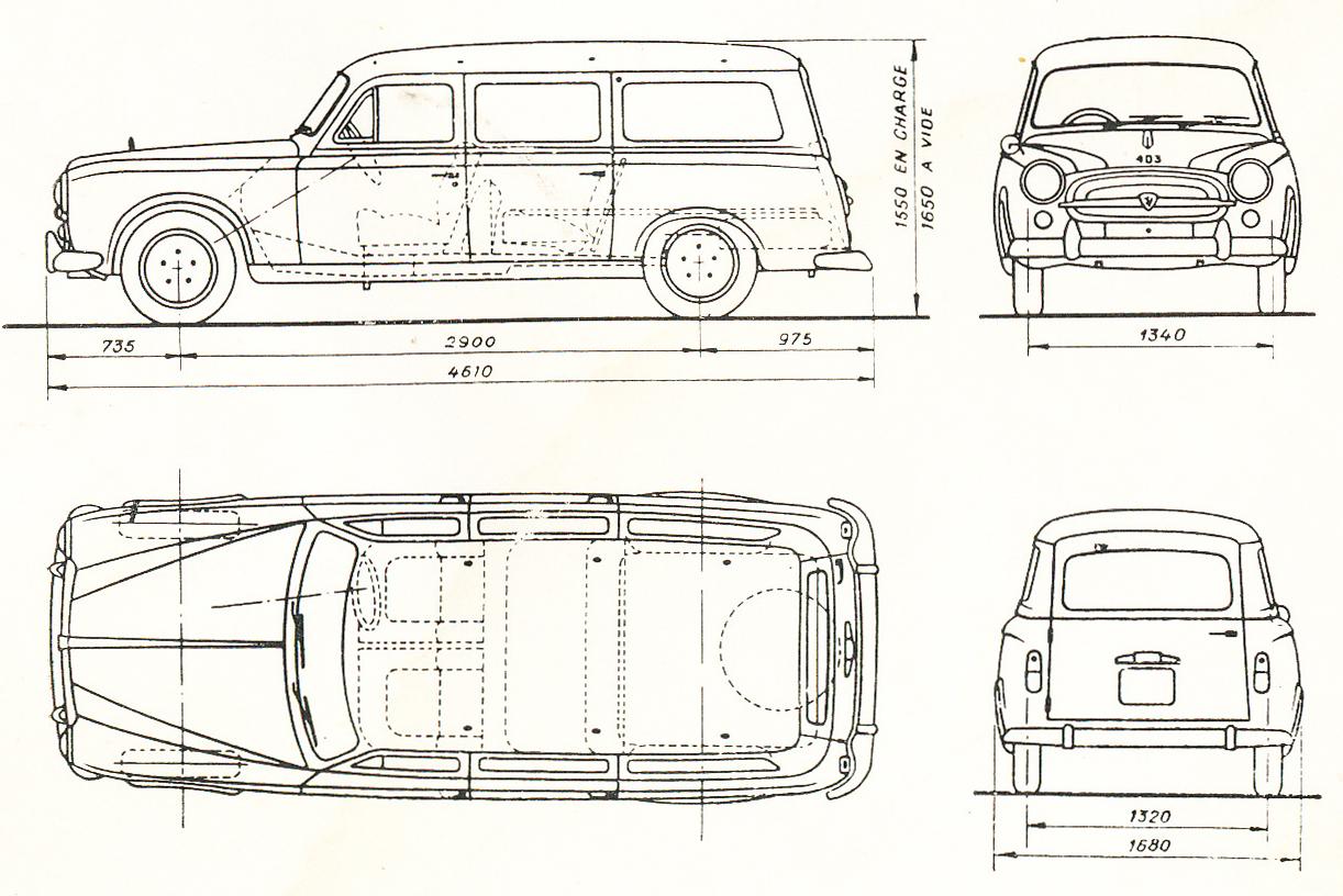 Peugeot 403 blueprint