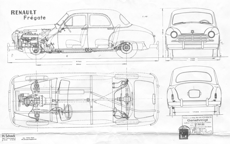 Renault Fregate blueprint
