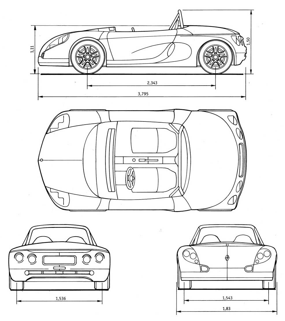 Renault Sport Spider blueprint