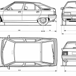 Citroën BX blueprint