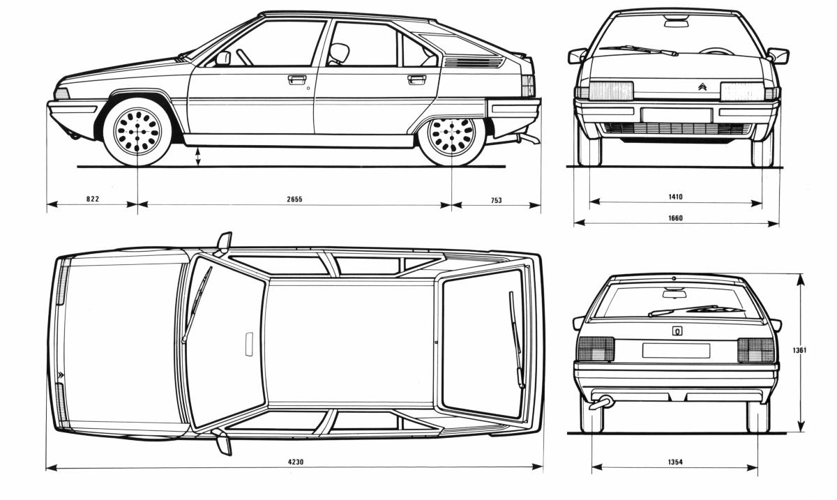 Citroën BX blueprint