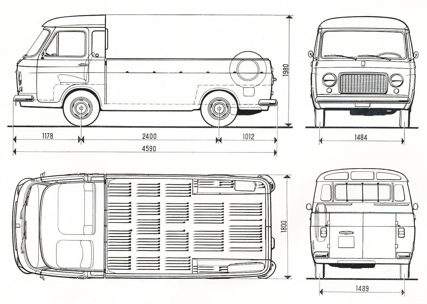 Fiat 238 blueprint