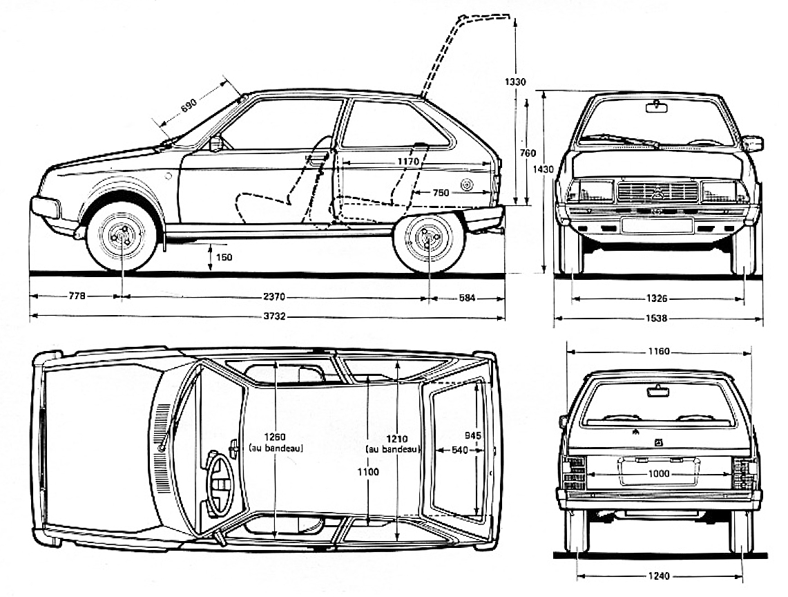 Citroën Axel blueprint
