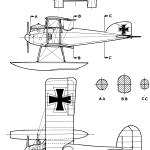 Albatros W.4 blueprint