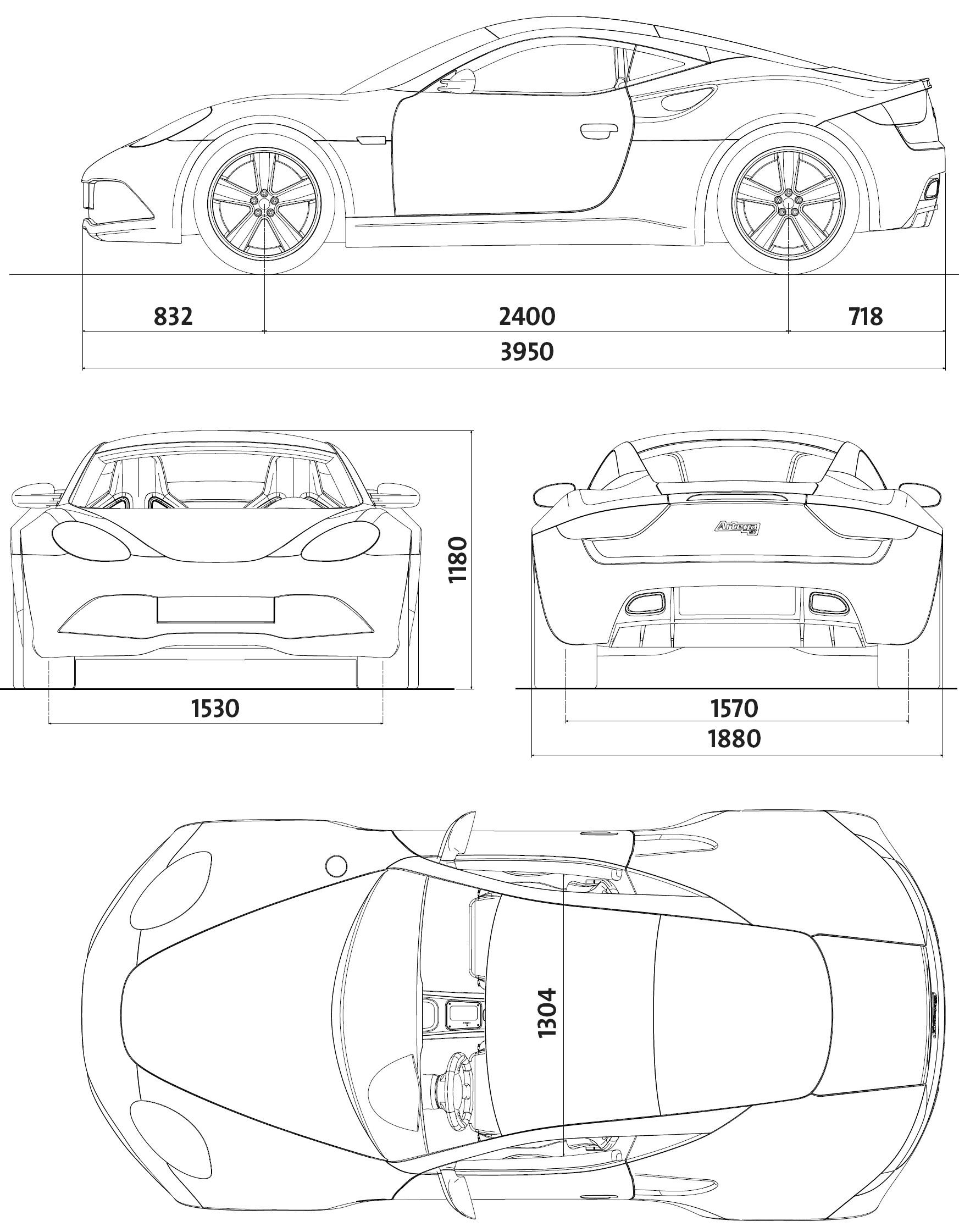 Artega GT blueprint