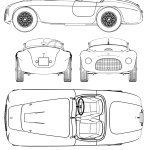Ferrari 166 MM blueprint