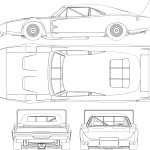 Muscle car Blueprints - Download free blueprint for 3D modeling