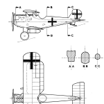 Dornier-Zeppelin D.I blueprint