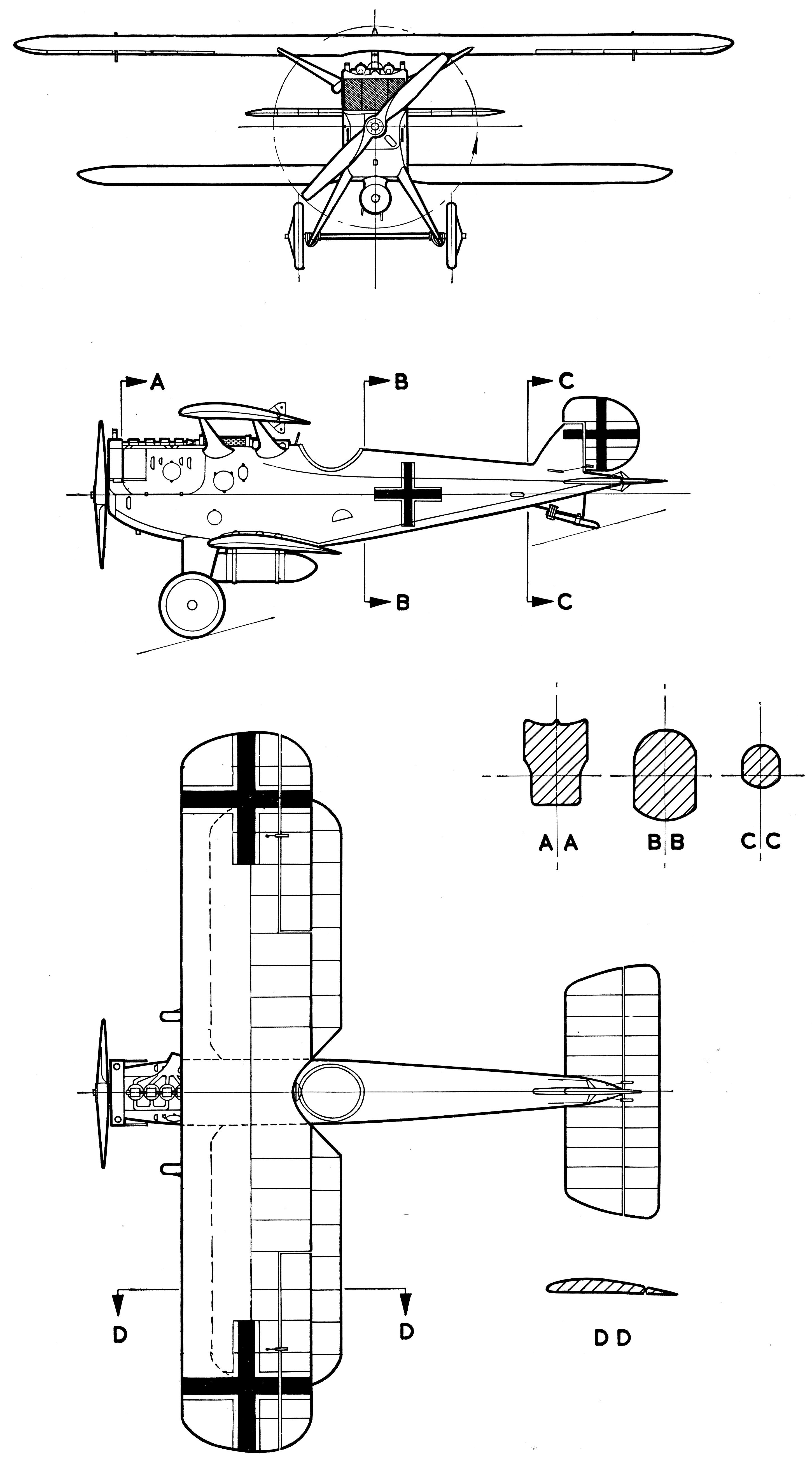 Dornier-Zeppelin D.I blueprint