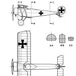 Fokker D.II blueprint